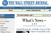 US Wall Street Journal heading to UK