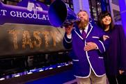 Calling consumers: The Cadbury campaign was launched by Brian Blessed and Claudia Winkleman