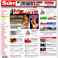 The Sun Online: its ad-laden layout and masthead make for a bright appearance