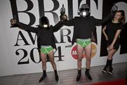 Paddy Power's Daft Punk impersonators gatecrash Brits in lucky pants