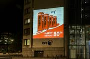 BT celebrates phone kiosk's birthday with projections