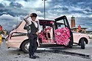 In pictures: L'Oreal Luxe creates Flowerbomb Taxi to promote fragrance