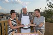 Gizzi Erskine and Frank Turner celebrated at the party