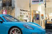 Porsche creates interactive shopping mall experience