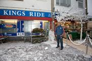 Pardip Kumar's store was transformed into a winter wonderland courtesy of Quaker Oats