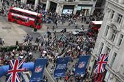 Last year's NFL on Regent Street celebrations attracted more than 50,000 visitors