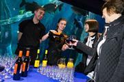 The Deep aquarium offers marine life surroundings