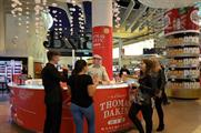 Thomas Dakin runs gin bar activation at London Heathrow
