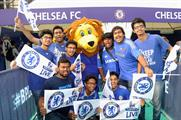 Football fans at the 2014 Barclays Premier League Live event in Mumbai