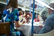 Dine on a London Underground carriage with Basement Galley