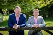 Matthew Curran and Richard Brown (l-r) launch Chew