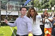 Serena Williams shows Londoners how to serve in tennis challenge