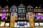 Festive projections on Liberty's Tudor building. Image: Matt Chung