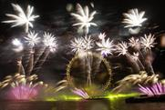 Fruit smells were choreographed with the annual NYE fireworks in London
