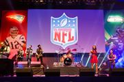 American-themed entertainment at the NFL Super Bash 2015