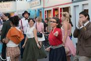 Actors and guests dressed up in 1950s-style outfits for the event