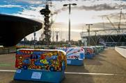 TfL's scaled-down bus sculptures land in Queen Elizabeth Olympic Park