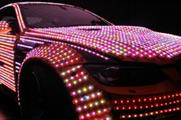Cars covered in more than 600 metres of LEDs will feature in the Top Gear Live experience