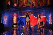 Victoria's Secret models showcased elaborate lingerie designs in London