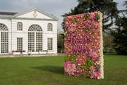 The Waitrose #ThanksMum flower installation at Kew Gardens