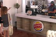 Visitors were surprised by a pop-up Burger King