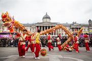 The celebrations began in Trafalgar Square