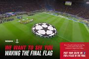 The brand will fly 25 supporters to Milan to wave the UEFA flag