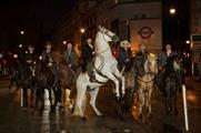 The Magnificent Seven cowboys have been seen around London