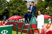Tim Henman returns to Wimbledon with (@HSBC_UK)
