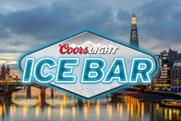 The ice bar will be staged in London and Manchester