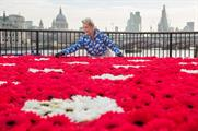 Cath Kidston created a flowering field on London's Southbank