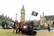 The pirates visited a number of key London landmarks as part of the PR stunt