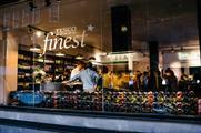 Tesco is showcasing its Finest range of wine at a pop-up bar on Wardour Street, Soho