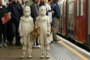 PR stunt: The Oddwell Twins from Tim Burton's Miss Peregrine's Home For Peculiar Children appeared in London