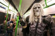 The whitewalker rode the tube and explored the city (Joe Pepler/Rex Features)