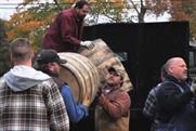 Jack Daniel's: distillery workers help construct The Barrel Tree