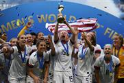 Megan Rapinoe lifts the Women's World Cup trophy after defeating Netherlands in the final on Sunday (Photo: Getty)