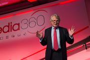 """Lord Dobbs, author of """"House of Cards,"""" addresses Media360."""