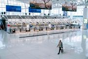An eerie JFK airport in New York this week (Picture: Getty)
