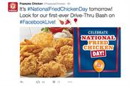 Popeyes takes to Facebook Live to bring a 'Drive-Thru' to chicken fans