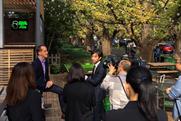Shake Shack CEO Randy Garutti at opening in Tokyo (photo via @shakeshackjpn on Instagram).