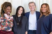 (L to R) B. Monét, Haley Elizabeth Anderson, Marc Pritchard, Queen Latifah