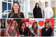 Clockwise from top: Zambezi's new director of business development Alexandra Gardner, Smith Brother's Milla Stolte and Dan Monarko, The Martin Agency's Carmina Drummond, Karen Costello, Kristen Cavallo andJanet White