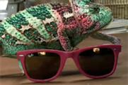 Ray-Ban...featuring a clever chameleon