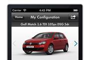 VW 'car configurator iPhone app' by DDB UK