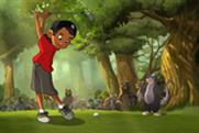 Gatorade... A young Tiger Woods swings for victory
