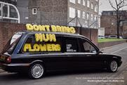 "Lives Not Knives ""Don't bring mum flowers"" by The Gate London"