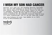 "Harrison's Fund ""I wish my son had cancer"" by AIS London"
