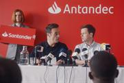 "Santander ""Press conference"" and ""Tiny pens"" by Engine"