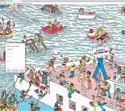 "WeTransfer ""Where's Wally? takeover"" by 77"